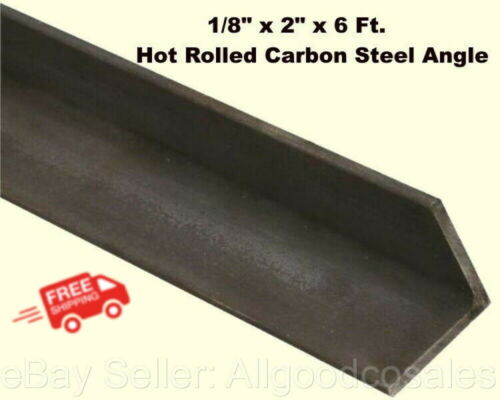 """Steel Angle Iron 1/8"""" x 2"""" x 6 Ft. Hot Rolled Carbon Steel 90° Stock Mill"""