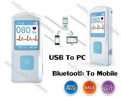 Pm10 Handheld Ecgekg Monitor Heart Rate Metercolor Lcdusbbluetoothus Seller