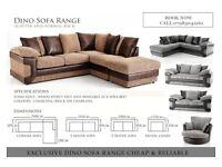 **X-Mass SALE** Solid NEW DINO JUMBO CORD 3 And 2 seaters sofa