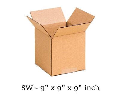 25 MOVING BOX Single Wall Cardboard 9x9x9