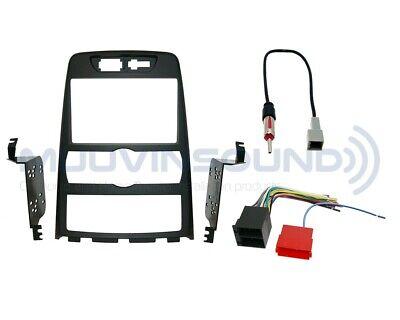 Radio Dash Kit Combo AUTOMATIC 2DIN MATTE BLACK + Wire Harness + Antenna HY40