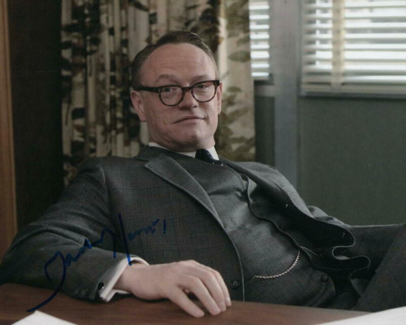 JARED HARRIS SIGNED AUTOGRAPH 8x10 PHOTO - KING GEORGE THE CROWN, OCEAN'S TWELVE
