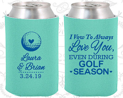 Wedding Favor Koozies Cheap Beer Can Koozie Ideas (305) Golf Wedding Favors - Golf Favors Ideas