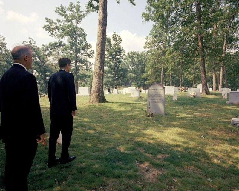 President John F. Kennedy visits grave of James Forrestal New 8x10 Photo