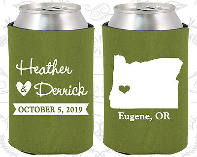 Wedding Favor Coozies Cheap Beer Can Coozie Idea (136) Oregon Wedding Favors  (Wedding Coozies)