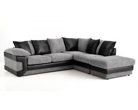 🌺🌺SAME DAY DELIVERY🌺 NEW DINO JUMBO CORD CORNER or 3 and 2 Seater SOFA SET AT VERY CHEAP PRICE