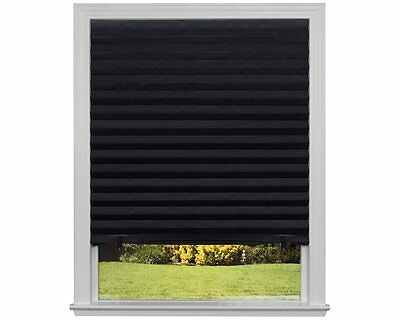"Black Paper Shade Window Blackout 36 x 72"" Pack Of 6 Temporary Blinds Home Decor"