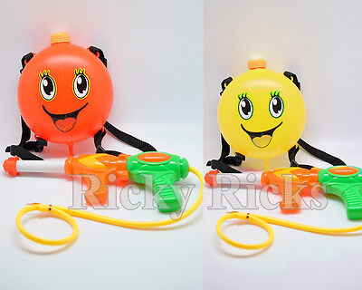Water Gun Backpack Squirt Pool Toy Soaker Pressure Pump Spray Super Kids Blaster