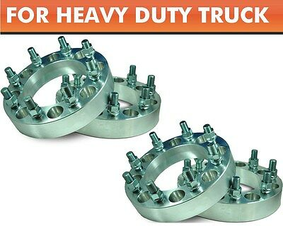 4 Pcs Wheel Adapters 8x180 to 8x180 ¦ 2011 & On Chevy Single Pickup Spacers 1.5""