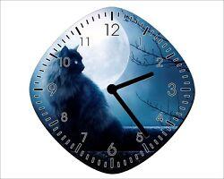 Full Moon Black Cat - Wall Clock