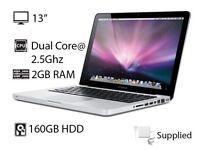 "2.26Ghz 13"" Apple MacBook Pro 2gb 160GB Final Cut Pro X Motion Logic Pro X Ableton Microsoft Office"