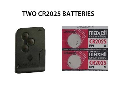 2 NEW RENAULT MEGANE SCENIC ESPACE REMOTE KEY CARD FOB BATTERIES CR2025
