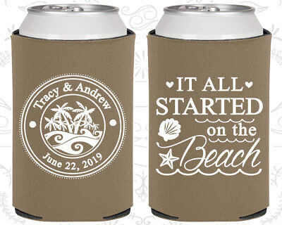 Wedding Koozie (Wedding Koozies Custom Koozie Gift (418) It all started on the)