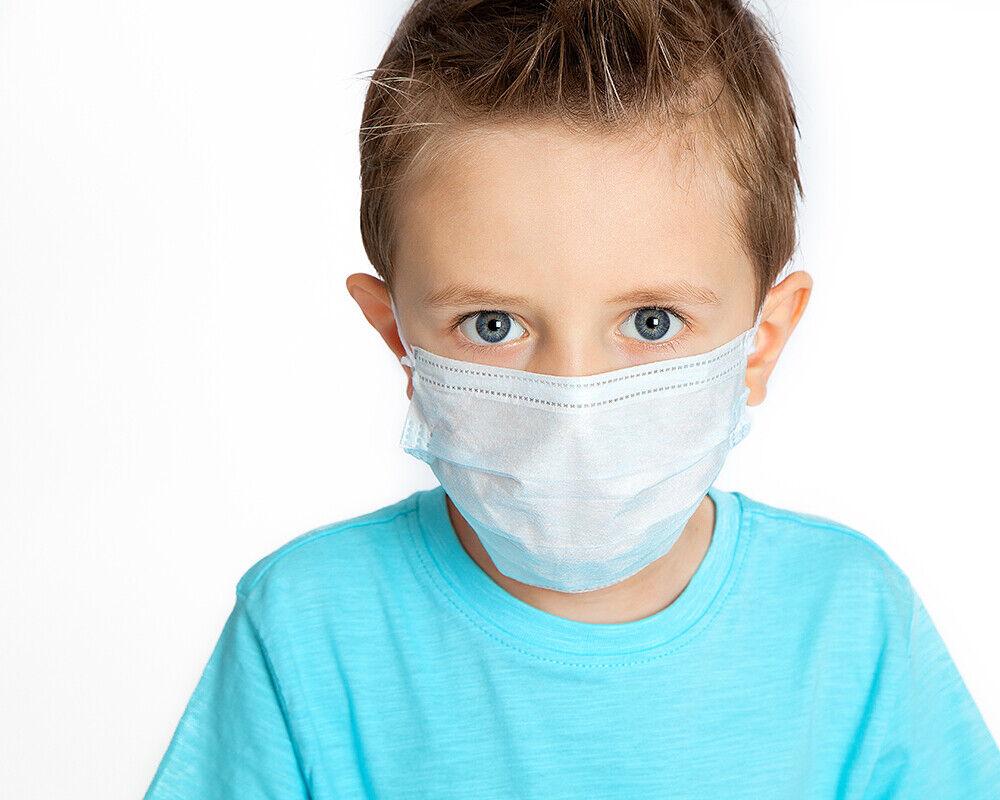 Kinder Einweg Mund Nasen Schutz 3-lagig Mundschutz Atemschutz Gesichtsmaske