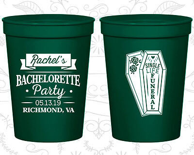 Bachelorette Party Stadium Cups Cup Favors (60096) Halloween Single Life Funeral - Funeral Party Halloween