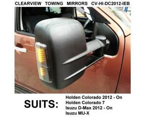 Clearview Towing Mirrors - Black / Electric / Indicators Fyshwick South Canberra Preview