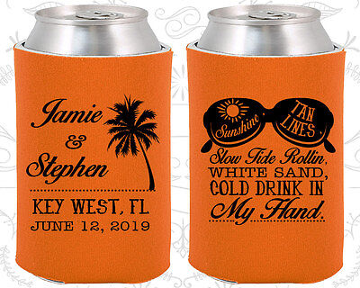 Personalized Wedding Coozies Custom Coozie (451) Summer Wedding Favors (Personalized Coozies)