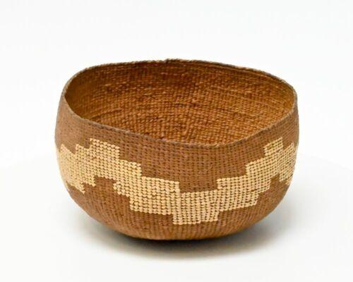 Beautiful Antique Hupa Open Food Basket