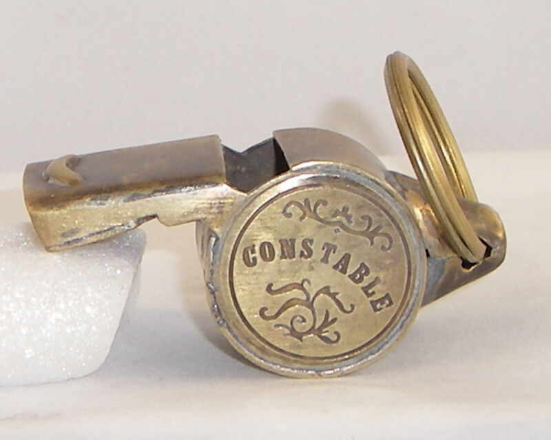 Brass Working Constable Whistle