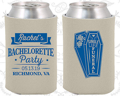 Bachelorette Party Koozies Favors Gifts (60096) Halloween, Single Life, Funeral - Funeral Party Halloween