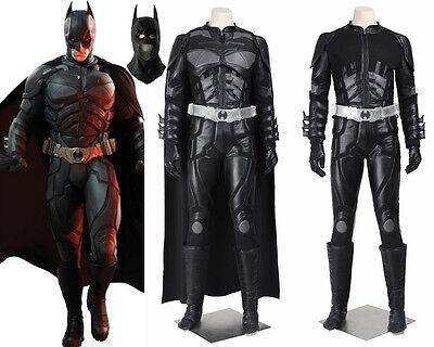 Batman The Dark Knight Rises Black Batman Cosplay Costume Custom - Batman Black Knight Kostüm