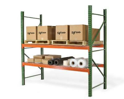 Teardrop Pallet Rack Upright - 192h X 42w - 19000 Lb. Capacity