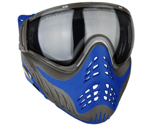 VForce Profiler Paintball Protective Mask Goggle Azure Grey / Blue NEW