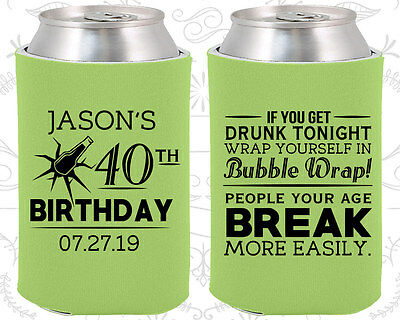 Personalized 40th Birthday Party Ideas Coozies (20088) Beer Birthday, Items](Personalized Wedding Favor Ideas)