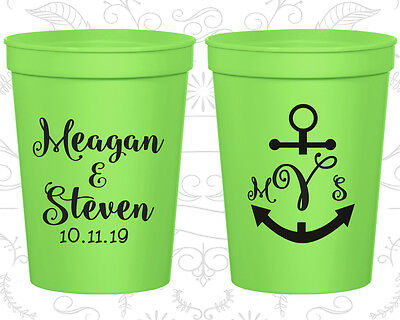 Nautical Wedding Favors (Personalized Wedding Favor Cups Custom Cup Gifts (14) Nautical Wedding)