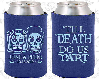Personalized Wedding Coozies Custom Coozie (41) Till Death Do Us Part (Wedding Coozies)