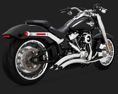 Vance & Hines Big Radius Chrome Exhaust 2018 Harley Softail Fatboy Breakout
