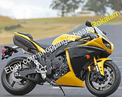 For Yamaha YZF1000 R1 2009 10 11 YZF-R1 Gloss Yellow Black Body ABS Fairing Kit