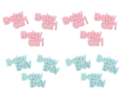 100PC Mini Plastic Baby Shower Girl Boy Table Decorations Favors Pink Blue Favor](Pink And Blue Table Decorations)