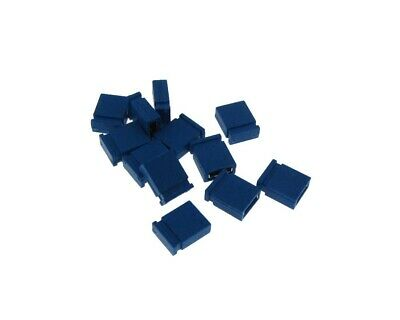 2p 2-pin 2.54mm Pitch Jumper For Straight Header - Blue - Pack Of 100
