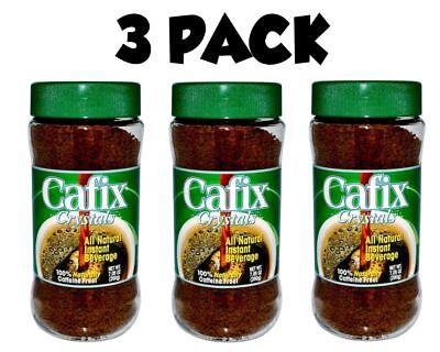 Cafix, 3 PACK, All Natural Instant Beverage Crystals, Caffeine Free, 7.05 oz