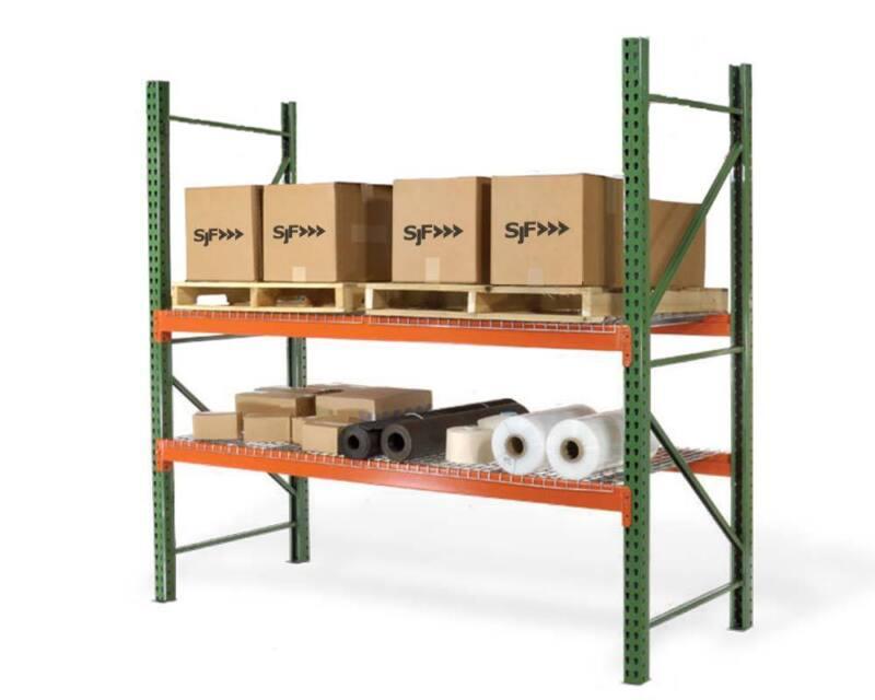 "Teardrop Pallet Rack Upright - 96""H x 48""W - 30,000 lb. capacity"