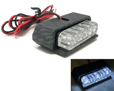 MOTORBIKE LED NUMBER LICENCE PLATE LIGHT CARBON   ATV TRIKE HOMOLOGATE