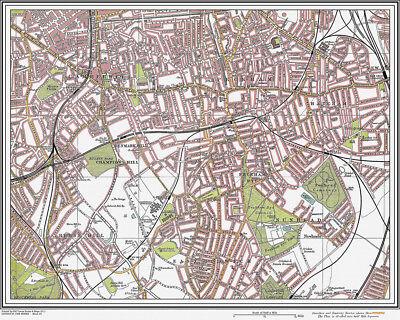 Camberwell, Peckham Map London 1908 #23
