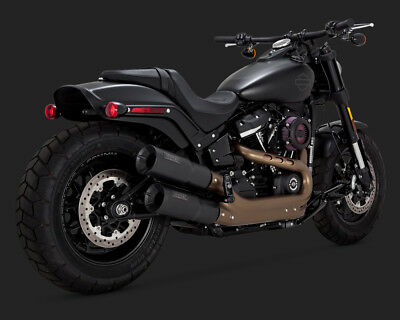 2018 Harley FXFBS Fat Bob 114: Vance and Hines Black Hi Output Exhaust: 46547