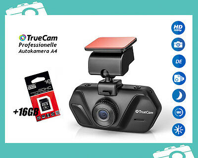 FULL HD 1020p Auto Kamera TRUECAM A4 Dashcam Video Überwachung Unfall 2,7'' 16GB