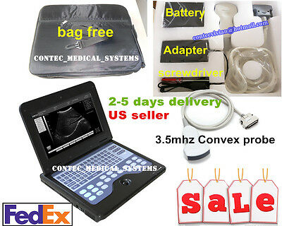 Us Cefda Portable Laptop Machine Digital Ultrasound Scanner 3.5mhz Convex Probe