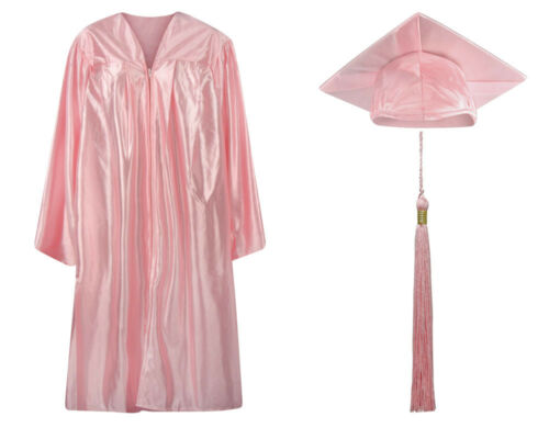 Graduation Cap Gown and Tassel - Shiny Finish- Adult & Children-16 COLORS AVAIL.