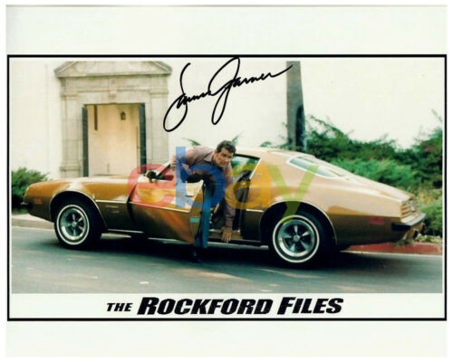 JAMES GARNER signed THE ROCKFORD FILES 8x10 PONTIAC FIREBIRD reprint