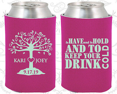 Personalized Wedding Koozies Custom Koozie Gift (38) To Have and to Hold (Wedding Koozies To Have And To Hold)