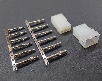 5 Sets 6 Pin Male Female Connector .093 Pins Receptacle Socket Crimp Plug Molex