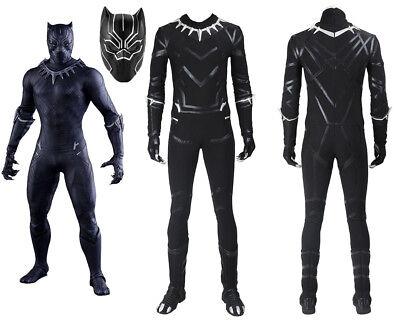 Top Grade Captain America Civil War T'Challa Black - Black Panther Captain America Civil War Kostüm