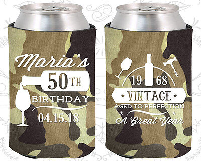 Personalized 50th Birthday Party Ideas Coozies (20098) Wine Birthday, Items](Personalized Wedding Favor Ideas)