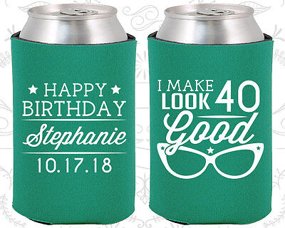 Personalized 40th Birthday Party Ideas Coozies (20048) Happy Birthday, Supplies](Personalized Wedding Favor Ideas)