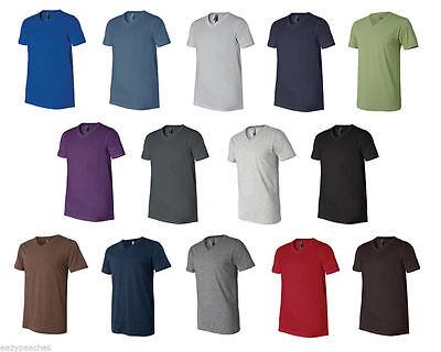 Next Level Premium Men's V-Neck T-Shirt Ultra Soft Basic Plain V Neck Tee, 3200