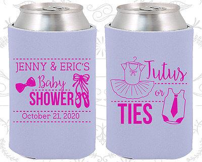Baby Shower Koozies Koozie Ideas (90033) Tutus Or Ties, Boy Or Girl Pink Or Blue](Tutu Baby Shower Ideas)